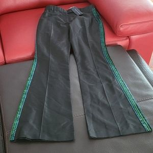 NEW with tags French Connection silk beaded pants